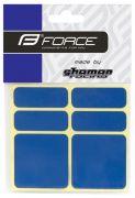 nálepky FORCE reflexní sada 6 ks 3M, modré