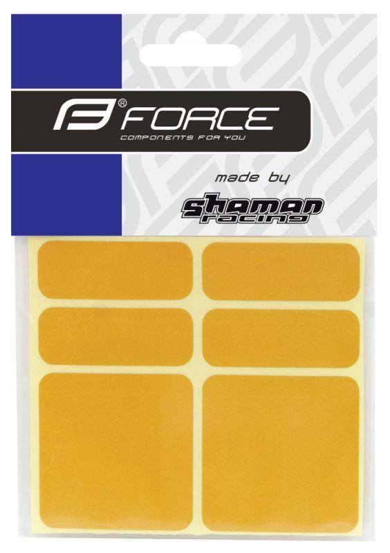 nálepky FORCE reflexní sada 6 ks 3M, žluté