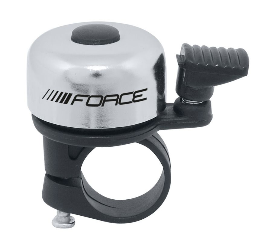 zvonek F MINI Fe/plast 22,2mm paličkový, stříbrný FORCE