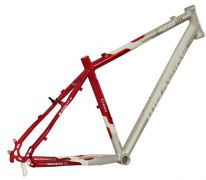 Rám 28 Maxbike C400 stříbrno-červený