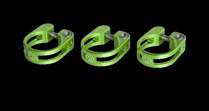 PRO sedlovková objímka odlehčená, 34,9mm, zelená