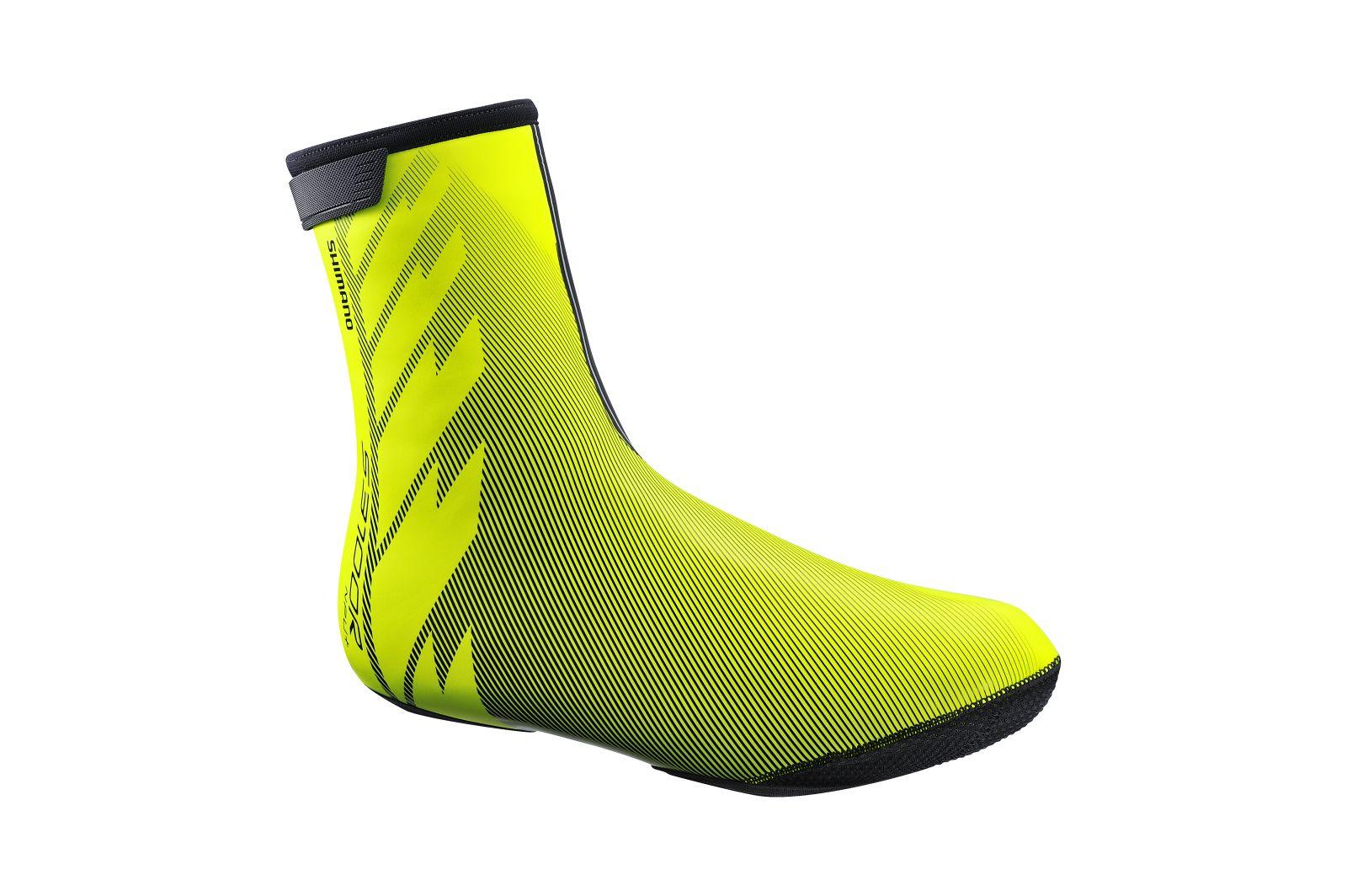 SHIMANO S3100R NPU+ návleky na obuv, Neon žlutá, M