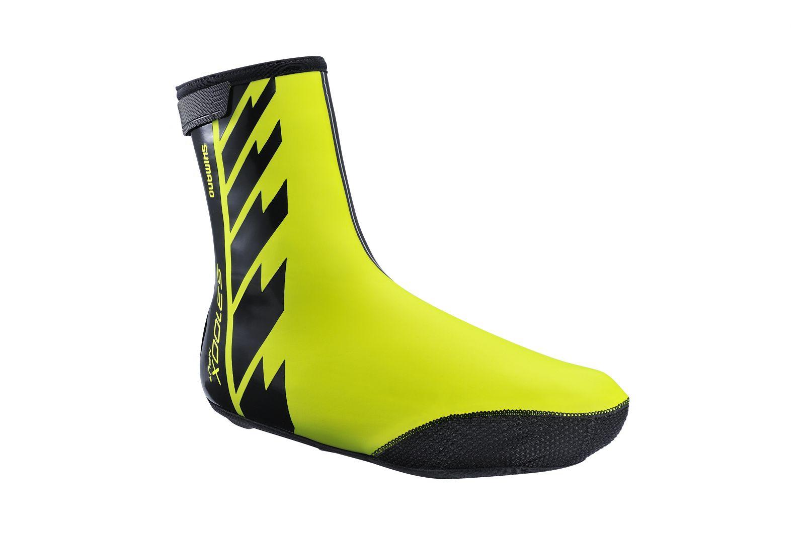 SHIMANO S3100X NPU+ návleky na obuv, Neon žlutá, L