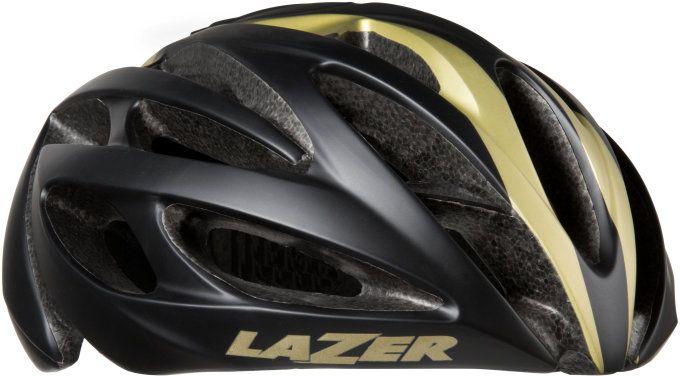 LAZER přilba silniční O2 černá zlatá ML 55-61 cm