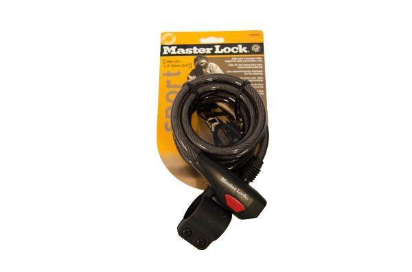 MasterLock spirálový zámek s držákem-clip