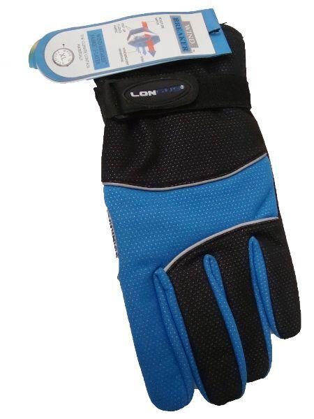 LONGUS rukavice Wind-breake, černá/modrá XL
