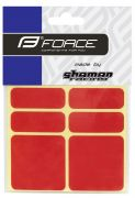 nálepky FORCE reflexní sada 6 ks 3M, červené