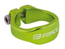 objímka sedlovky FORCE na imbus 31,8mm Al, zelená