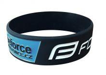 náramek silikonový FORCE, černo-modrý-20 cm