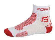 ponožky FORCE 1, bílo-červené L - XL