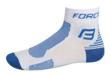 ponožky FORCE 1, bílo-modré S - M