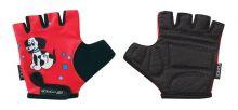 rukavice FORCE KID dětské, červené-pejsek S