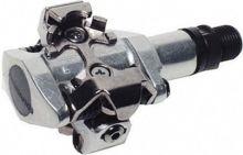 pedály shimano PD-M505 zarážky SM-SH51 stříbrné