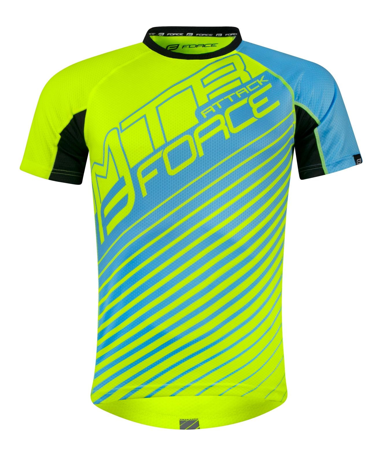 dres FORCE MTB ATTACK, fluo-modrý S