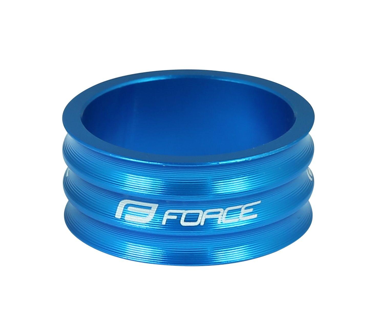 "podložka FORCE 1 1/8"" AHEAD 15 mm Al, modrá"