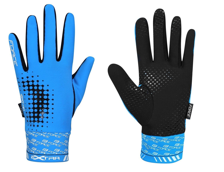 rukavice FORCE EXTRA jaro-podzim, modré M