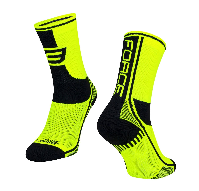 ponožky F LONG PLUS, fluo-černé S-M/36-41