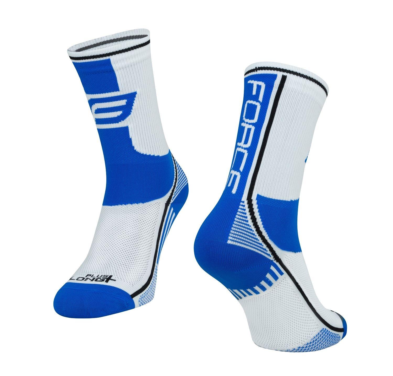 ponožky F LONG PLUS, modro-černo-bílé L-XL/42-47