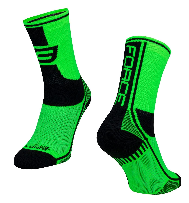ponožky F LONG PLUS, zeleno-černo-bílé S-M/36-41