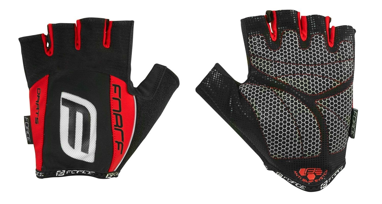 rukavice F DARTS 17 gel bez zapínání, červené M