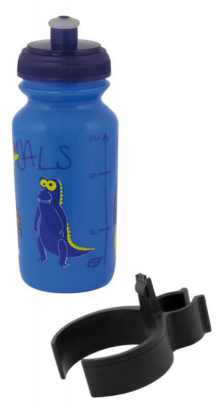 láhev dětská FORCE ZOO s držákem 0,3 l, modrá