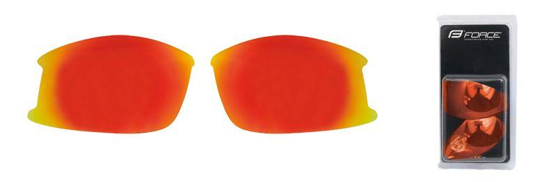 skla náhradní ULTRA pár, červená laser FORCE