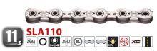 Yaban - Řetěz  SLA110CR stříbrný  11x