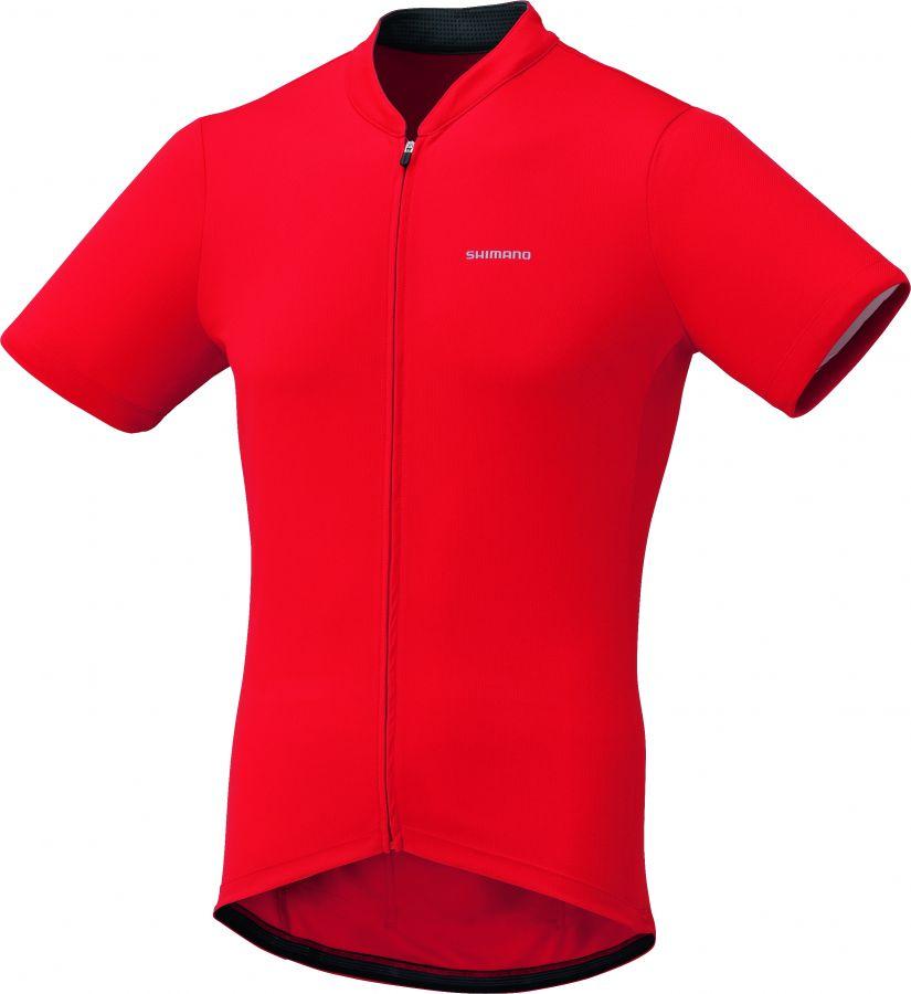 SHIMANO pánský dres krátký rukáv, červená, XL