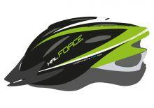 přilba FORCE HAL, černo-zeleno-bílá S - M