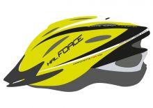 přilba FORCE HAL, fluo-černá L - XL