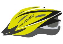 přilba FORCE HAL, fluo-černá XS-S