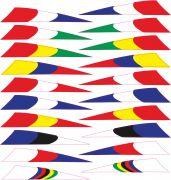 nálepky FORCE na přilbu - vlajky, arch 20 ks