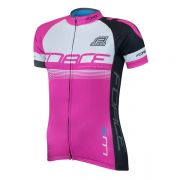 dres FORCE LUX dámský krátký rukáv růžový XL